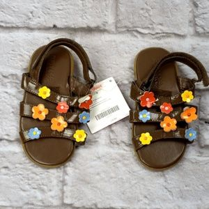 Gymboree Toddler Size 8 Sandals Flower accent